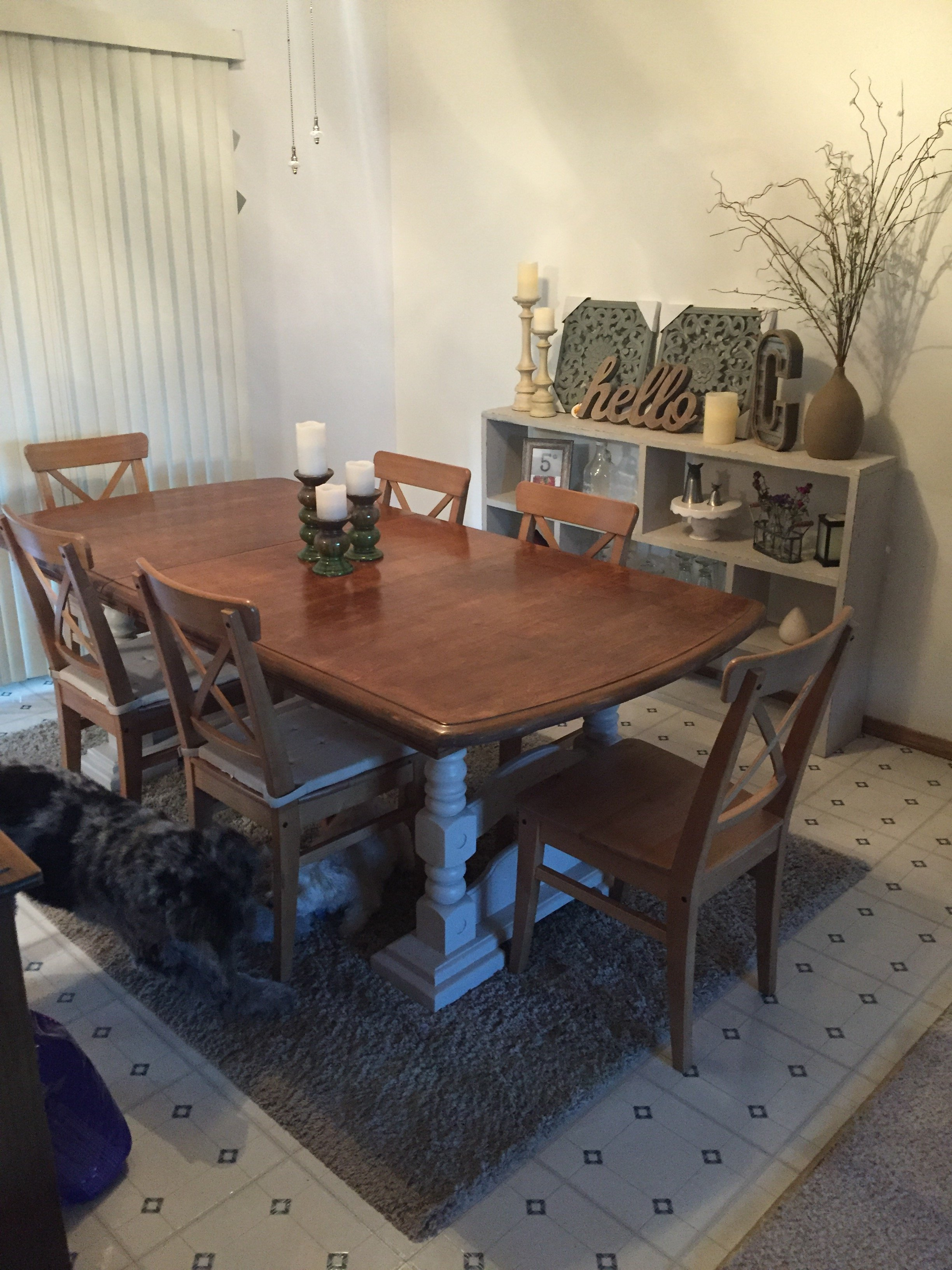 Before and After: Dining Table Redo