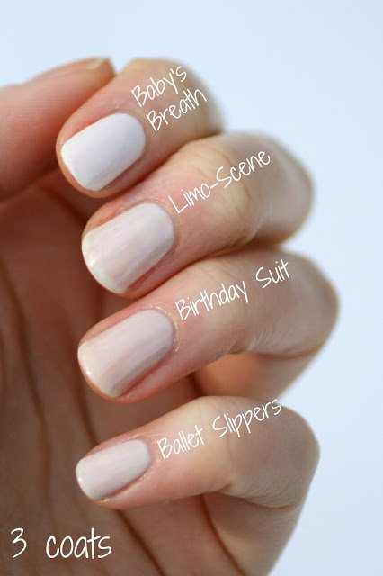 essie polish whites and nudes