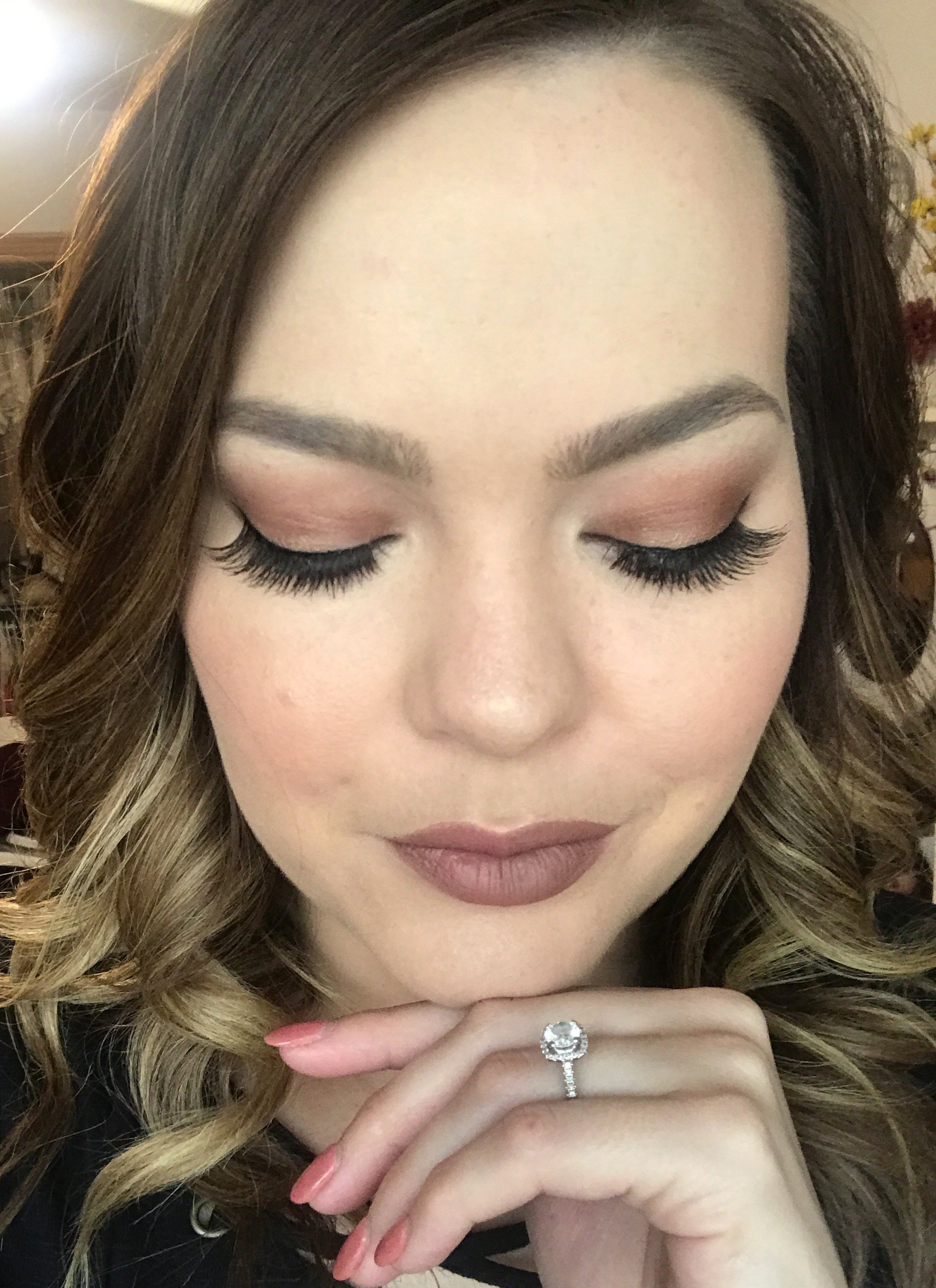 brown tones makeup look