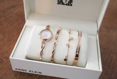 Rose gold watch set mother's day gift