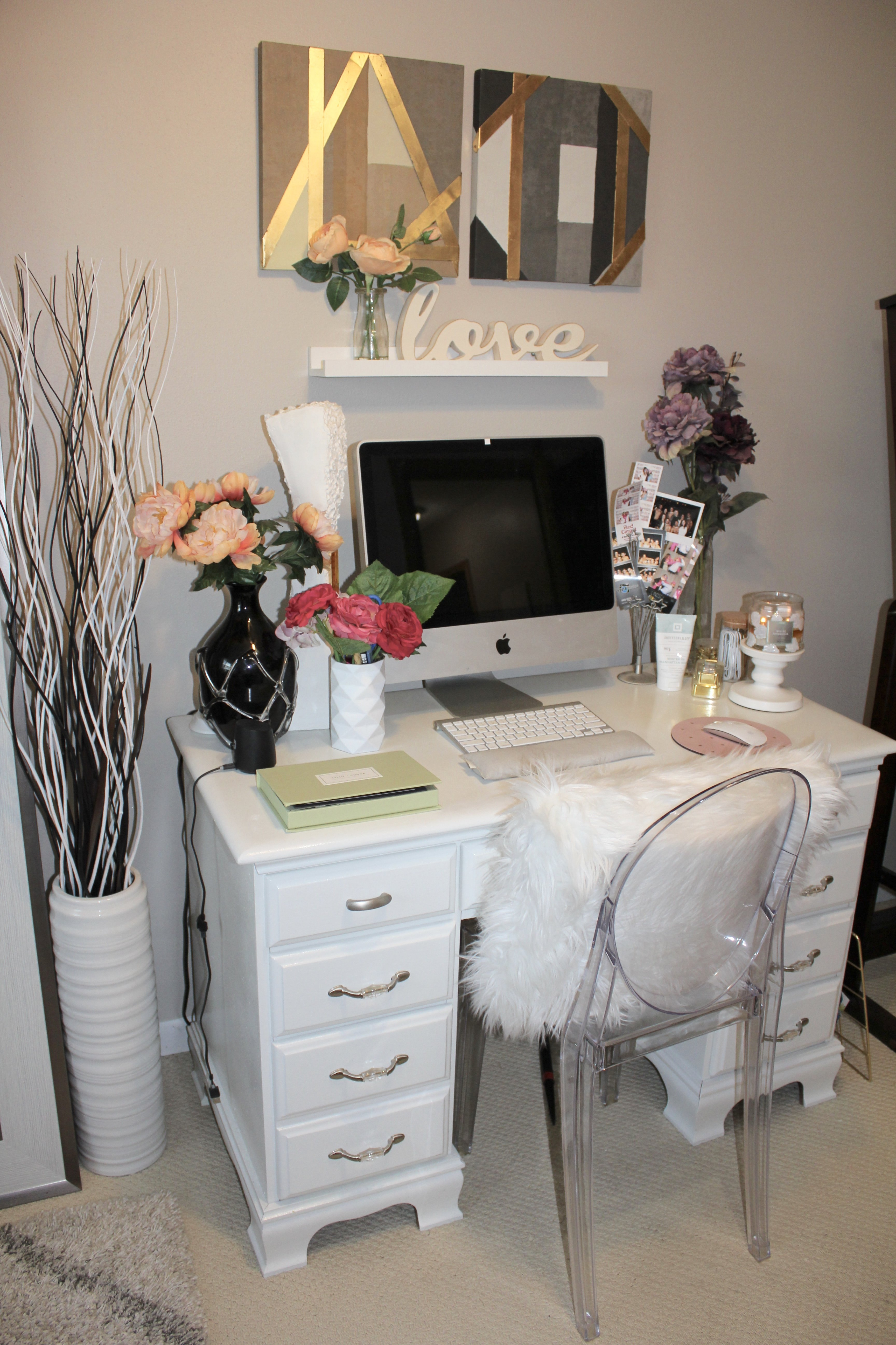 beauty room/ office tour